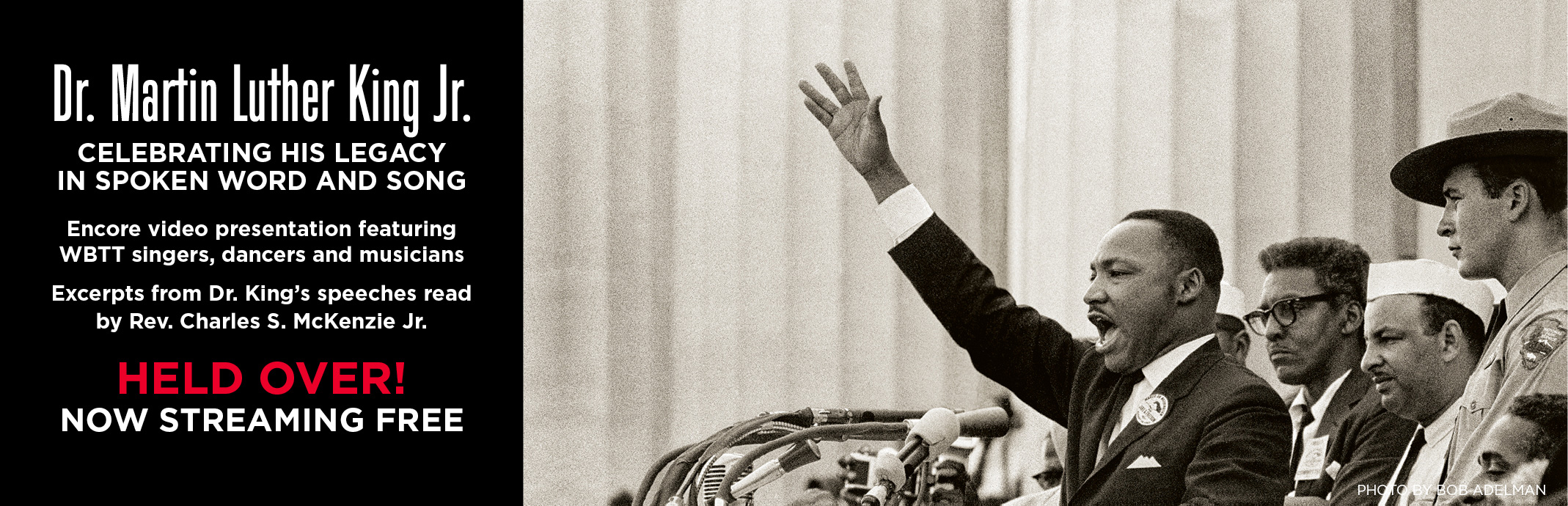 Dr. Martin Luther King Jr. Celebrating His Legacy in Spoken Work and Song. Streaming Free!